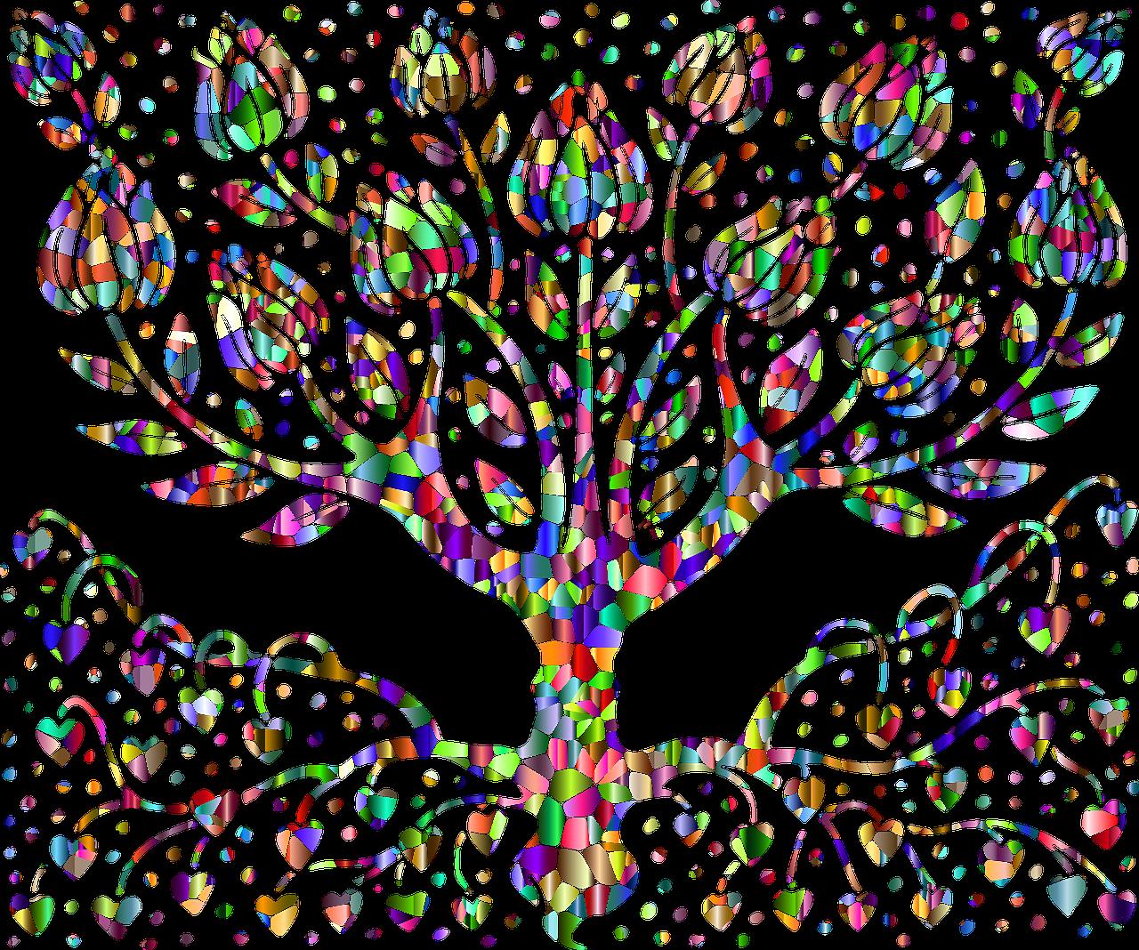 arbre racine couleur